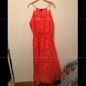 Orange spaghetti strap dress